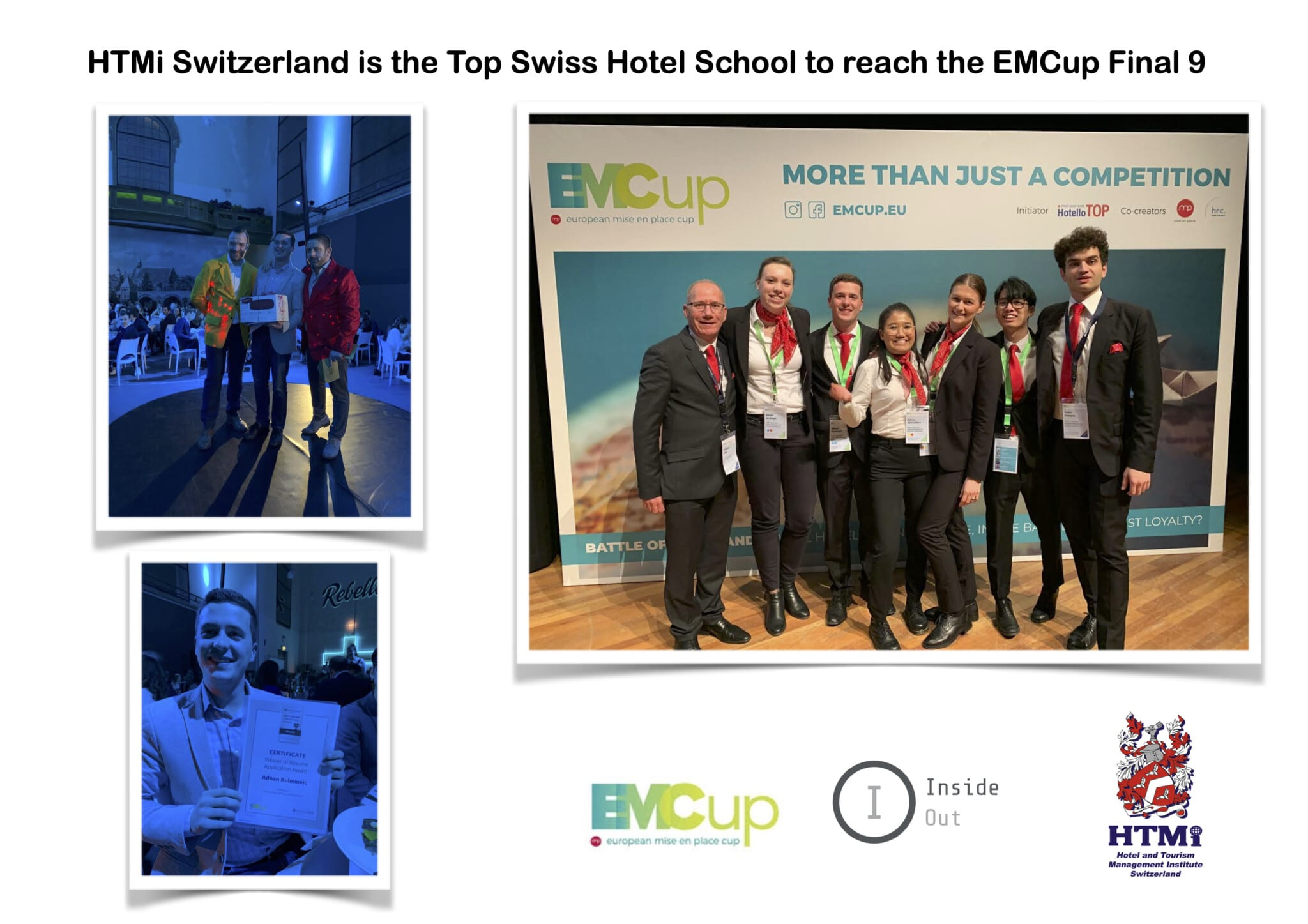 CONGRATULATIONS to HTMi Switzerland Team – Top Swiss Hotel School in European EMCup 2020