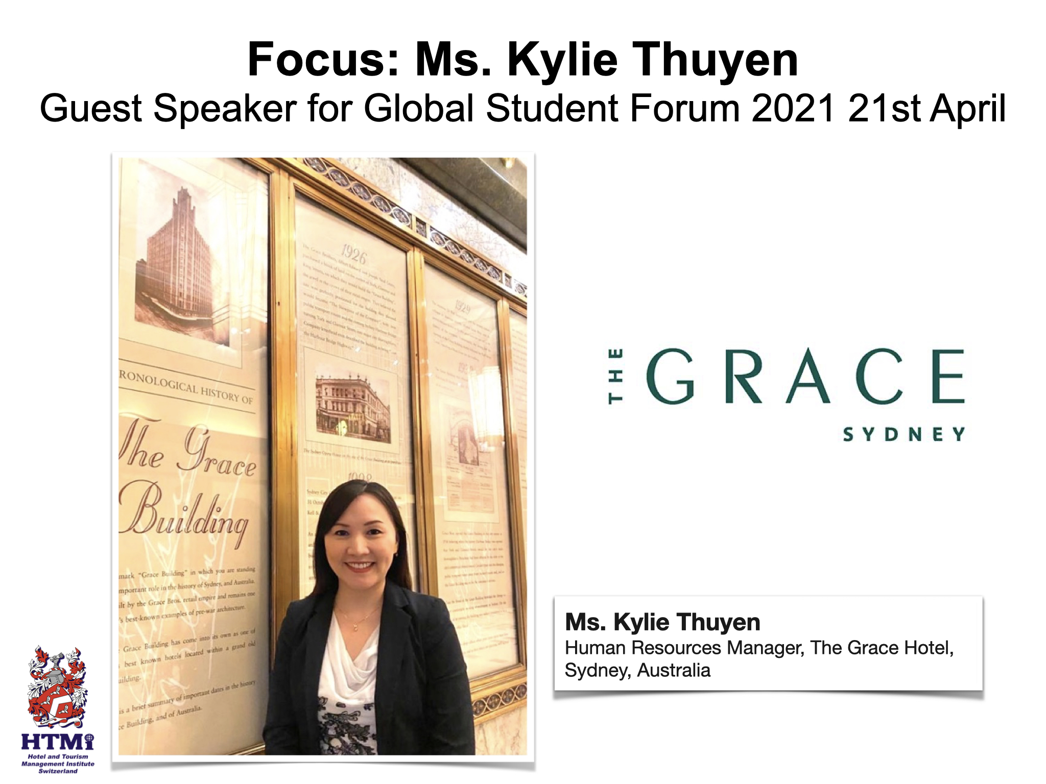 Focus: Ms. Kylie Thuyen Guest Speaker for Global Student Forum 2021 22nd April