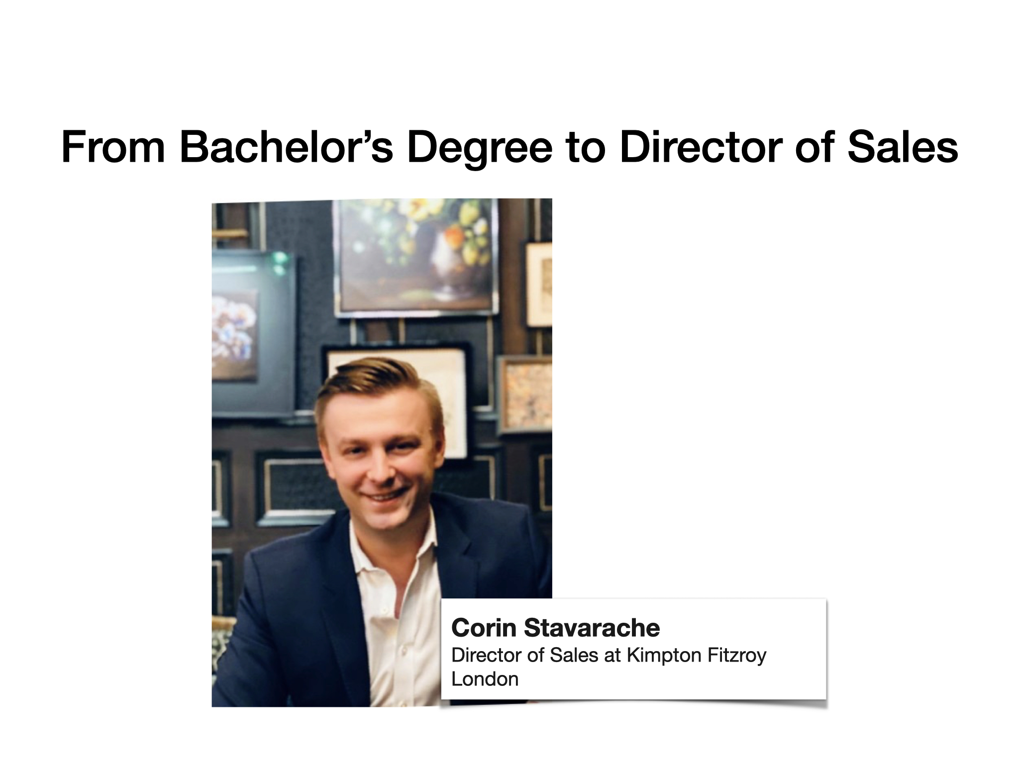 Corin Stavarache – From Bachelor's Degree to Director of Sales